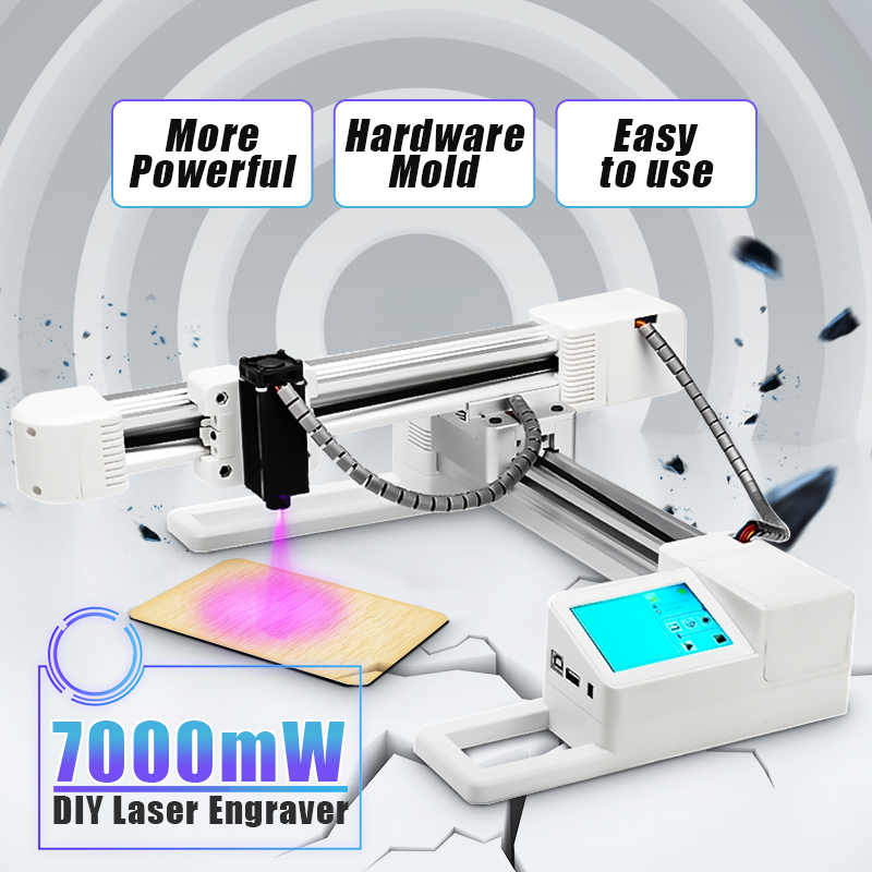 7000 mW Logo marque imprimante bricolage ordinateur Laser graveur en acier inoxydable Laser Cutter Machine de marquage pour windows-97/03/7/8/10