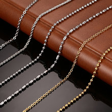 Vnox DIY Chain Necklace Stainless Steel Women Men Jewelry Snake Round Beads for Pendant Accessories(China)