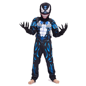 цена New Arrival Child Venom Muscle Costume Spider-man Boys Superhero Cosplay Halloween Fantasia Fancy Dress онлайн в 2017 году