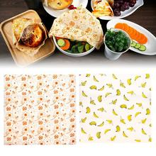 3PCS Organic Cotton Beeswax Cloth Preservation Cloth Beeswax Eco Friendly Reusable Food Wraps