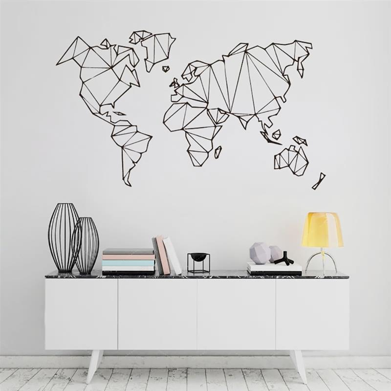 Mappa Del Mondo di Geografia Adesivi Murali Soggiorno camera Da ...