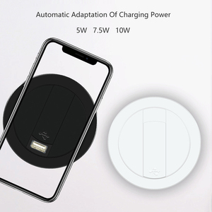 Image 3 - Embed Desktop Fast Wireless Charger Furniture Office Table Desk Mounted Quick Charging Embedded For IPhone X XS Max Samsung S9 8