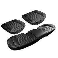 Комплекты из 3 предметов новая автомобильная, из искуственной кожи сиденья водостойкая подушки Защитная площадка с нижней сумка для хранен