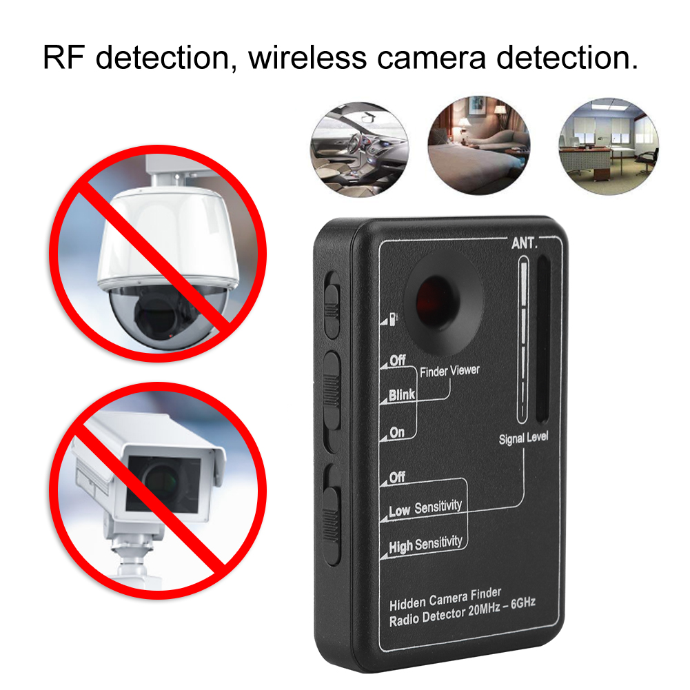 Portable RD 10 High Frequency Wireless RF Signal Detector Camera Bug Finder Privacy Protect Security