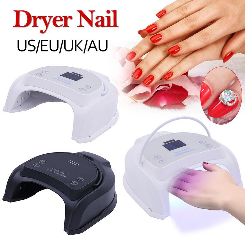 New 64W Rechargeable Pro UV LED Gel Nail Lamp Art Polish Dryer Manicure With Timer Light For All Gel Nails Art Curing LampsNew 64W Rechargeable Pro UV LED Gel Nail Lamp Art Polish Dryer Manicure With Timer Light For All Gel Nails Art Curing Lamps