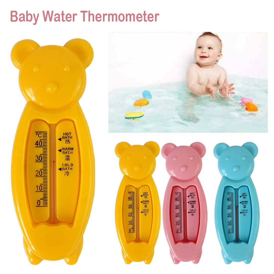 Floating Bear Baby Water Thermometer Kid Bath Thermometer Toy Infant Toddler Plastic Tub Water Sensor ThermometerFloating Bear Baby Water Thermometer Kid Bath Thermometer Toy Infant Toddler Plastic Tub Water Sensor Thermometer