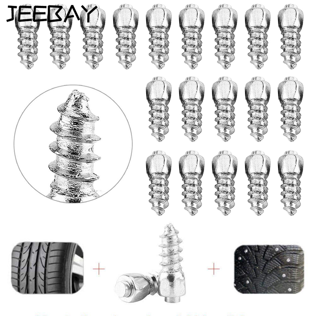 JEEBAY Spikes For Car Tires For Winter Spikes For Tires 8mm For Atv Car Wheel Lugs Tyre Anti-Slip Nail Spikes Car Accessories