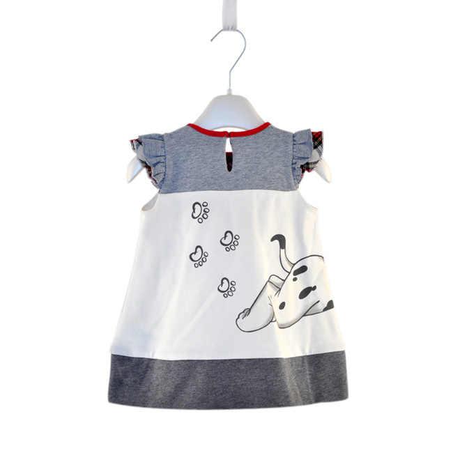 ชุดเด็กทารกแขนกุด A - Line Party การ์ตูนเจ้าหญิงน่ารักชุดเด็ก One - piece ฤดูร้อนหลวมเด็กชุดสำหรับหญิง