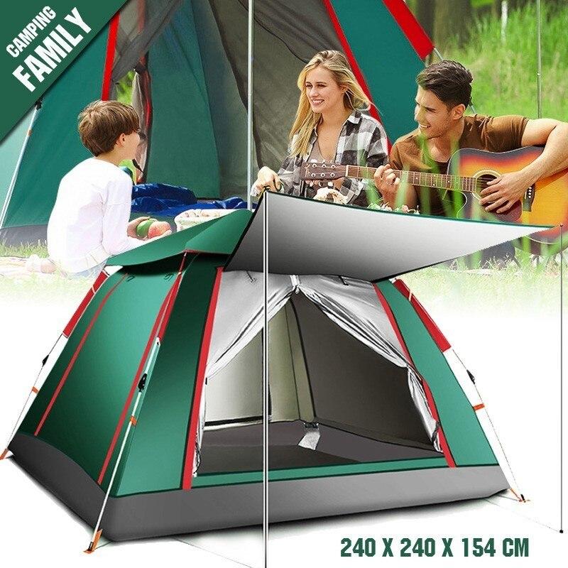 2019 nouveau jet tente extérieure automatique tentes jeter Pop Up étanche Camping randonnée tente étanche grande famille tentes