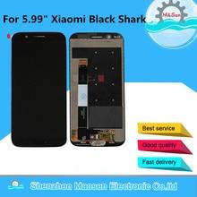 """מקורי 5.99 """"M & סן עבור Xiaomi שחור כריש SKR A0 SKR H0 LCD מסך תצוגה + מגע Digitizer עבור Xiaomi blackShark + טביעות אצבע"""
