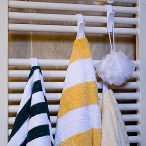 Image 2 - 6 adet ev mutfak duş kapısı havlu kancası plastik havlu askısı depolama organizatör