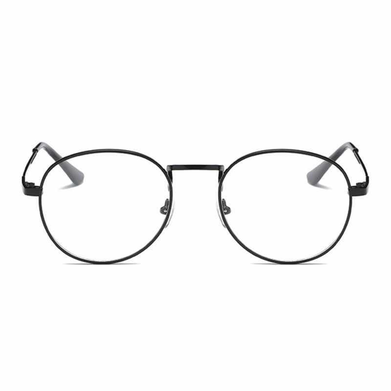 a80e02866c14b ... Fashion Retro Round Glasses Frame For Women Men Circle Metal Frame  Vintage Oval Eyeglasses Clear Lens ...