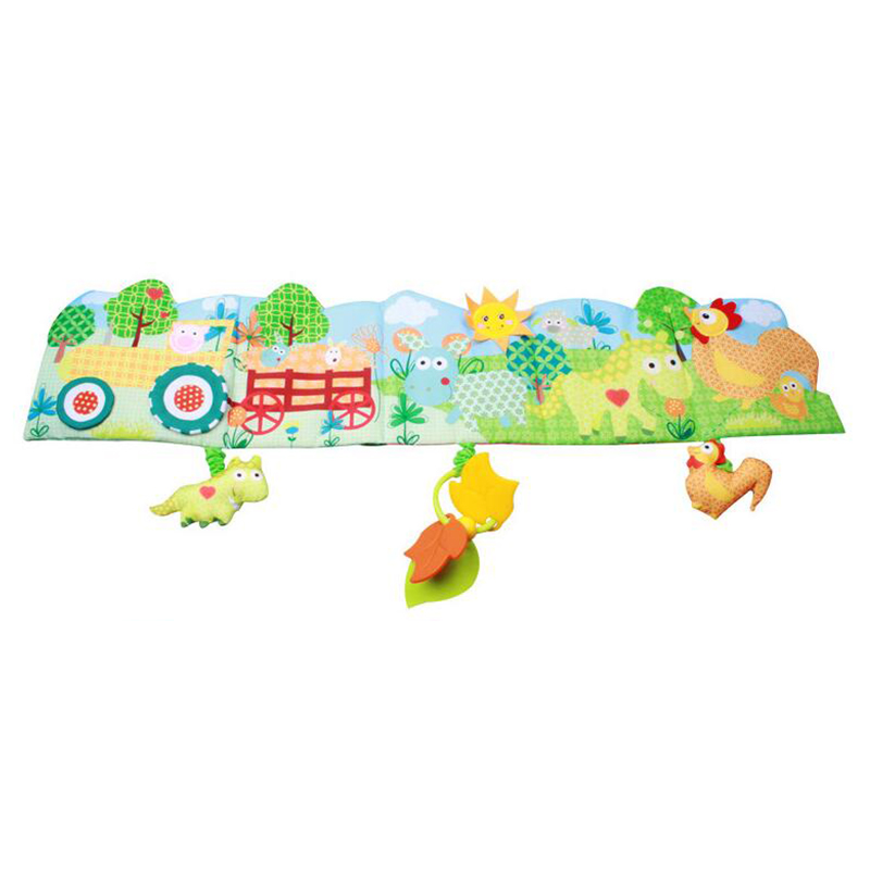 1 Stücke Baby Bett Krippe Stoßfänger Cartoon Tier Tuch Buch Pädagogisches Wissen Um Multi-touch Für Spaß Spielzeug Mit Te Weit