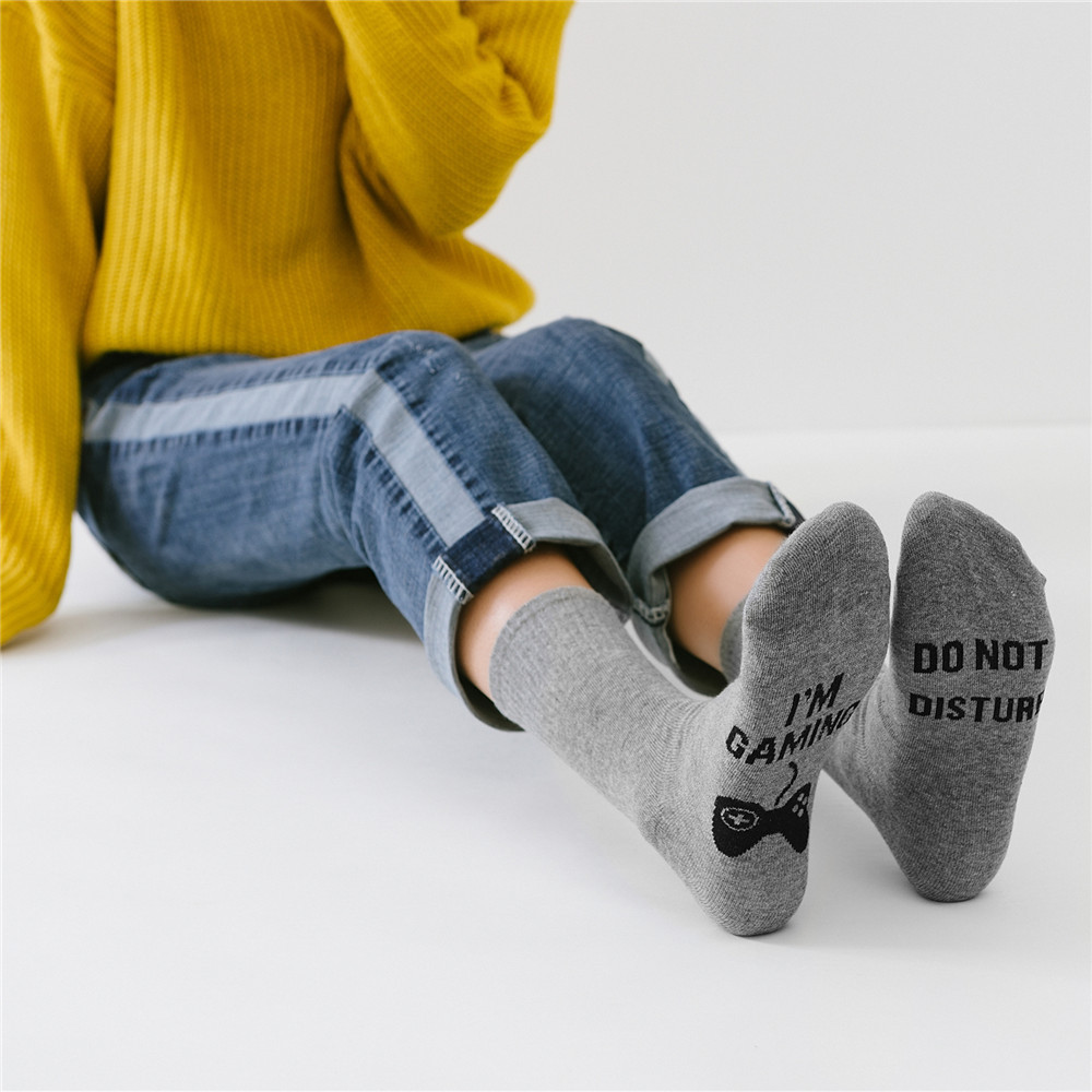 Mid barrel sports cotton socks DO NOT DISTURB I M GAMING classic European and American style foreign trade Korean version socks in Men 39 s Socks from Underwear amp Sleepwears