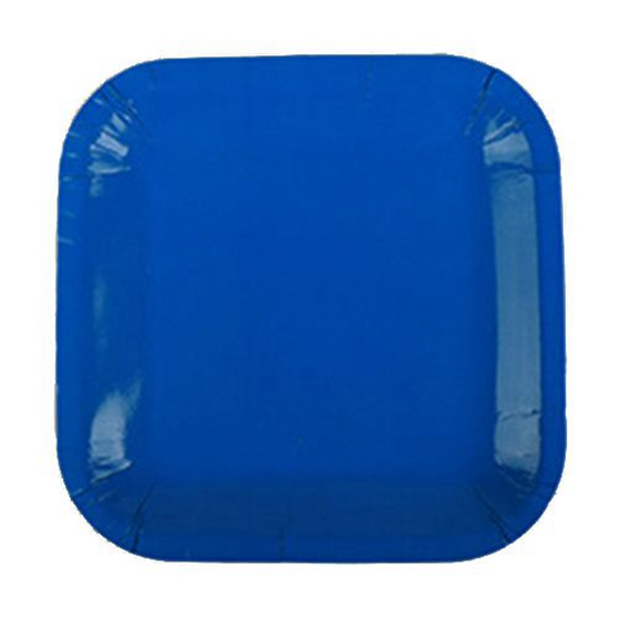 Best 20x 9 inch Square Paper Plates 23cm Plain Solid Colours Birthday BBQ Party Tableware(Dark Blue)Best 20x 9 inch Square Paper Plates 23cm Plain Solid Colours Birthday BBQ Party Tableware(Dark Blue)
