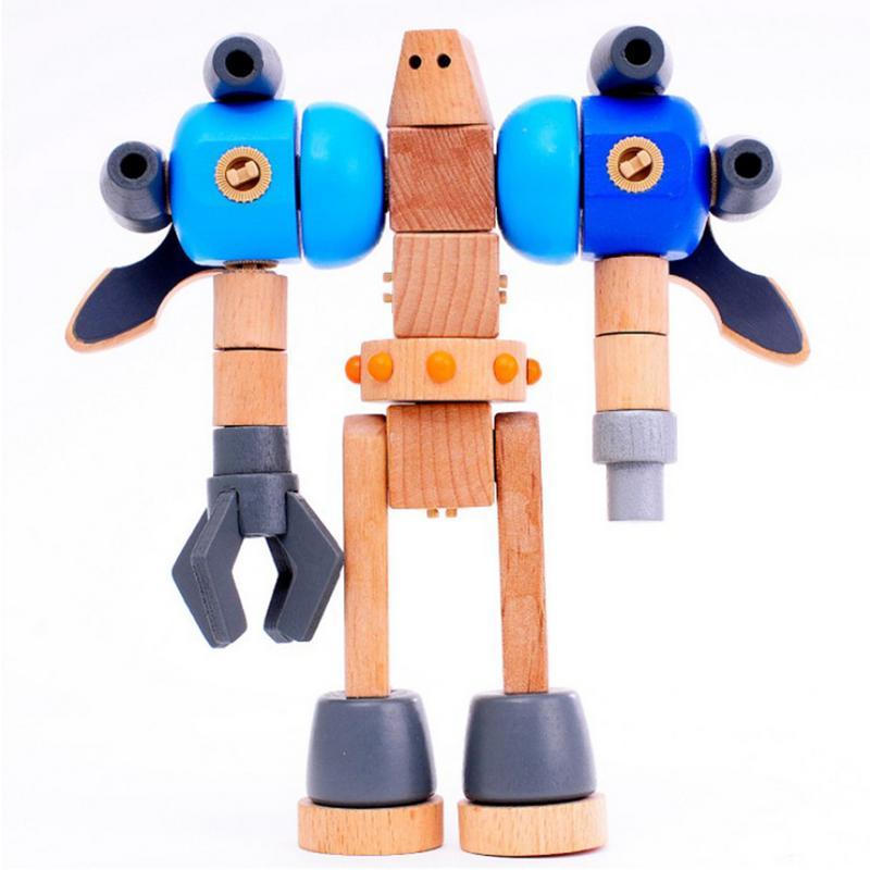 33 pcs/ensemble En Bois Enfants Assemblage de Blocs de Construction Jouets de Modélisation Polyvalent Puzzle Éducation Précoce Jouet Modèle Pour Enfants