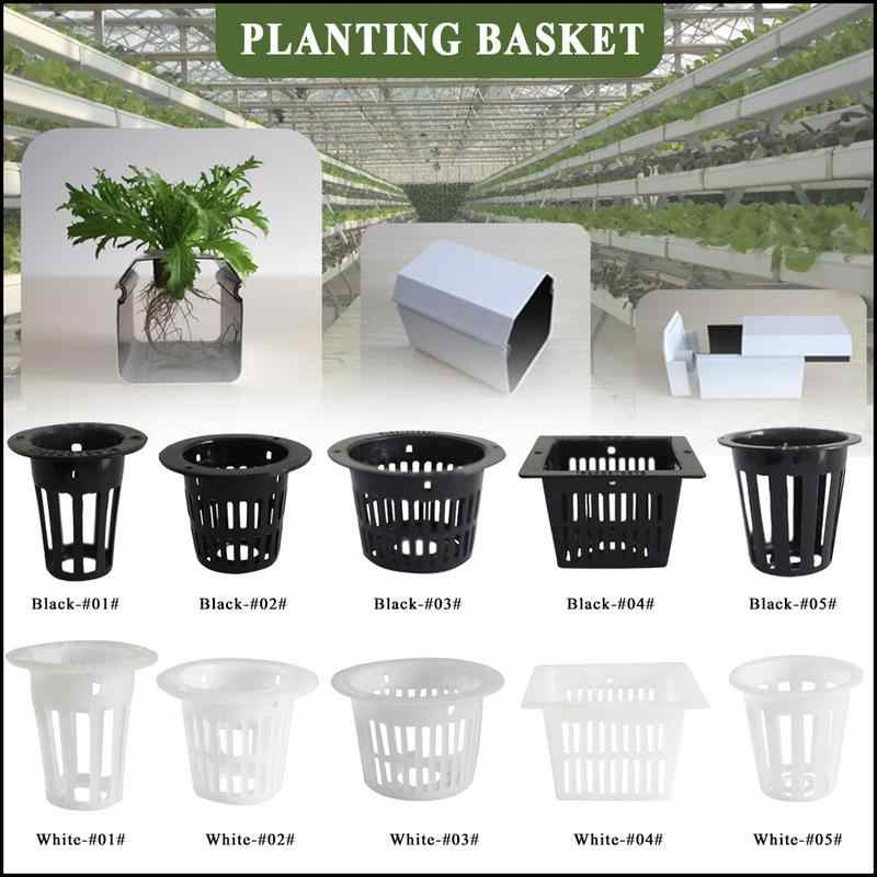 100pcs Net Cup Soilless Culture Square For Hydroponics Plant Grow Mesh Pot Baske