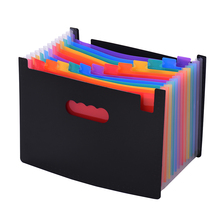 24 кармана, папка для файлов, органайзер для документов, расширяющаяся сумка для файлов, цвет радуги, гармошка, размер А4, с направляющими для файлов и бумажными бирками