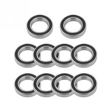 10Pcs 15x24x5mm 6802-2RS Double Sided Rubber Sealed Bearing Single Row Deep Groove High Speed Ball Bearings for 15mm Shaft/Rod 1pcs 1215 1215k 75x130x25 111215 mochu self aligning ball bearings tapered bore double row high quality