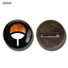 Anime Naruto Brooch Pin Shippuden Uzumaki Uchiha Nara Clan Emblem Badge Cartoon Jewelry Gift for Kids