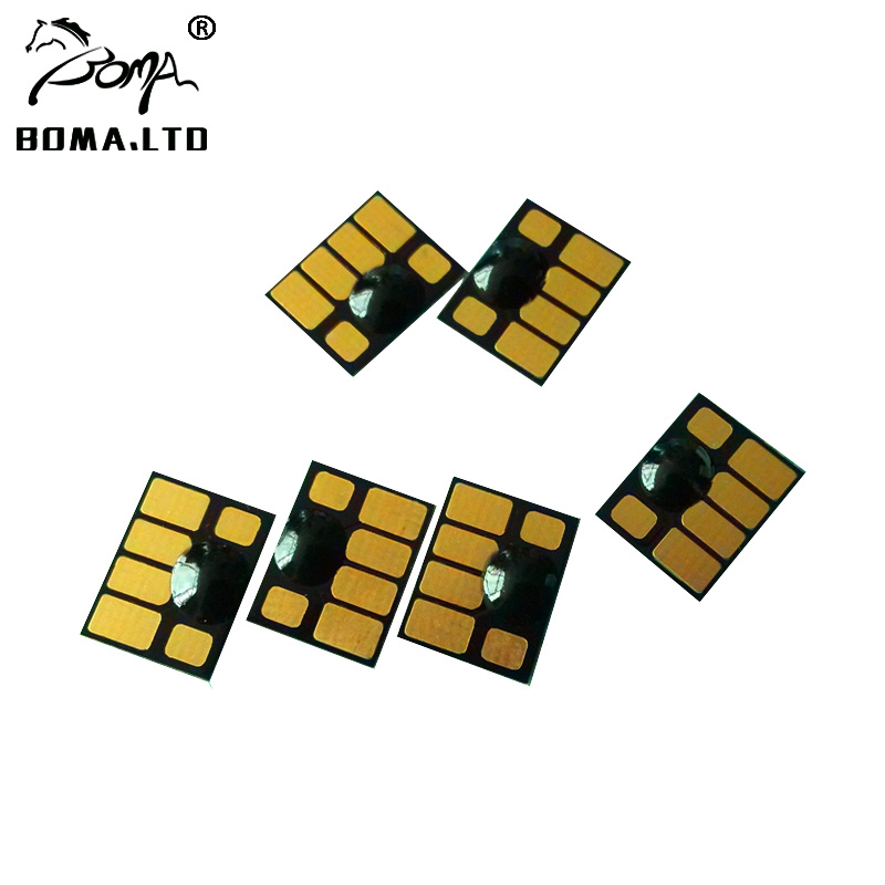BOMA LTD 5 Sets 81 Compatible Cartridge Chip For HP81 Inl Cartridge Chip For HP Designjet