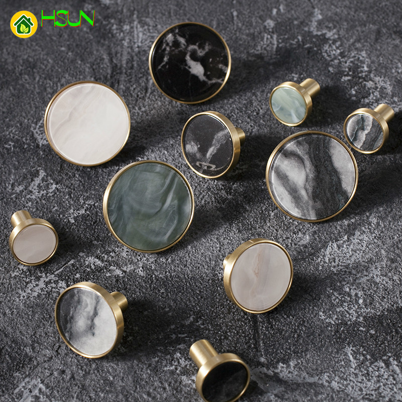 1pc Marblee pattern brass knob Dresser Drawer Knobs Pulls Handles Cupboard Knobs Furniture Cabinet Handle Pull Hardware in Cabinet Pulls from Home Improvement