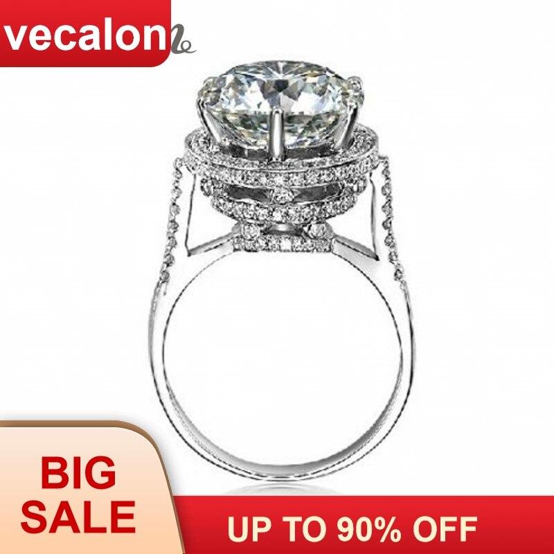 Vecalon 2016 Značka Design Dámský korunní prsten 5ct AAAAA Zircon - Šperky