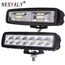 NEXVAL 18 Вт 6 дюймов DRL светодиодный свет работы баров пятно луч 12 24 в янтарный лампы мотоцикл для езды по бездорожью внедорожник 4×4 ATV днем бег