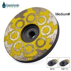 1 stk/partij Medium Grit 4 inch100mm hars gevuld diamant slijpen cup wielen voor slijpen en polijsten steen