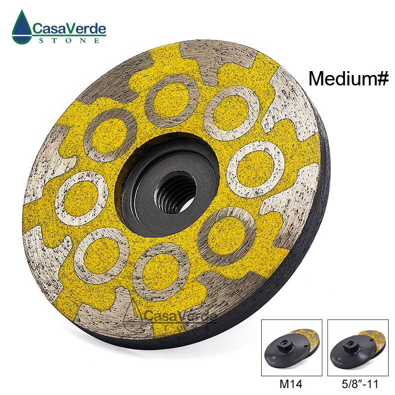 1pc/lot Medium Grit 4 Inch100mm Resin Filled Diamond Grinding Cup Wheels For Grinding And Polishing Stone