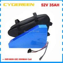51,8 в 35AH треугольник Шап батарея 52 в 35AH аккумулятор с бесплатной сумкой ИСПОЛЬЗОВАТЬ samsung 3500 мАч сотовый 50A BMS с 58,8 в 4A зарядное устройство
