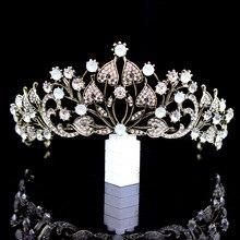 цена на 2018 New Retro Baroque Bride Crown Queen Banquet Crown hairband Selling Headdress