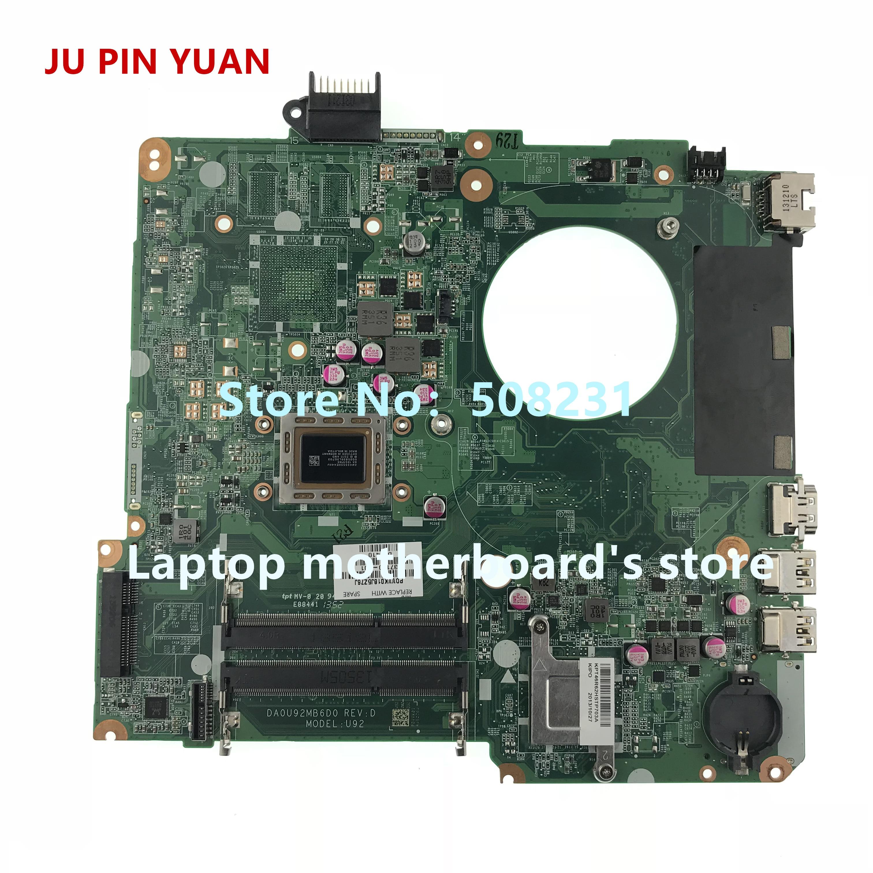 JU PIN YUAN 737140-501 737140-001 motherboard For HP PAVILION 15-N laptop motherboard U92 DA0U92MB6D0  A8-4555M fully TestedJU PIN YUAN 737140-501 737140-001 motherboard For HP PAVILION 15-N laptop motherboard U92 DA0U92MB6D0  A8-4555M fully Tested