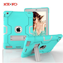 New Armor Case For Apple iPad 2 3 4 Kids Safe Heavy Duty Silicone Hard Case Cover With Stand Holder For iPad 2/3/4 Coque Cases wes armor dual layer heavy duty protection back kickstand case kids safe cover for apple ipad air 2 for new ipad pro 9 7 inch