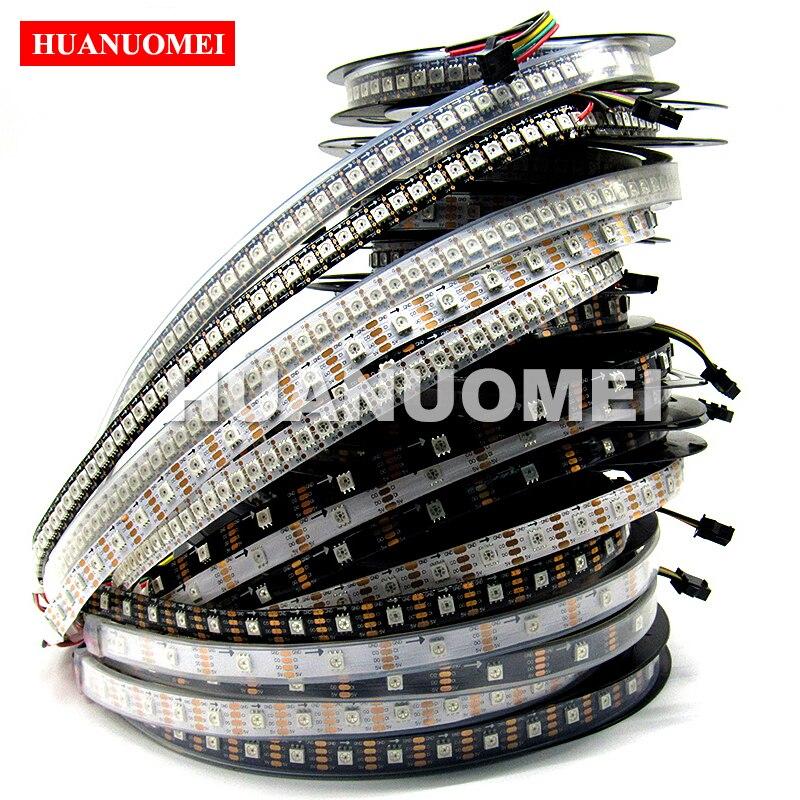 5 V 30/32/60/72/96/144 LED s/m WS2811/WS2812B/WS2813/WS2815/WS2818/SK6812/SK9822/APA102/APA107 Pixel numérique RGB LED lumière de bande