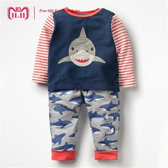 Little Maven marca 2018 otoño primavera bebés niñas niños dibujos animados  Shark impresión Vestido de manga 90363e3a1bb