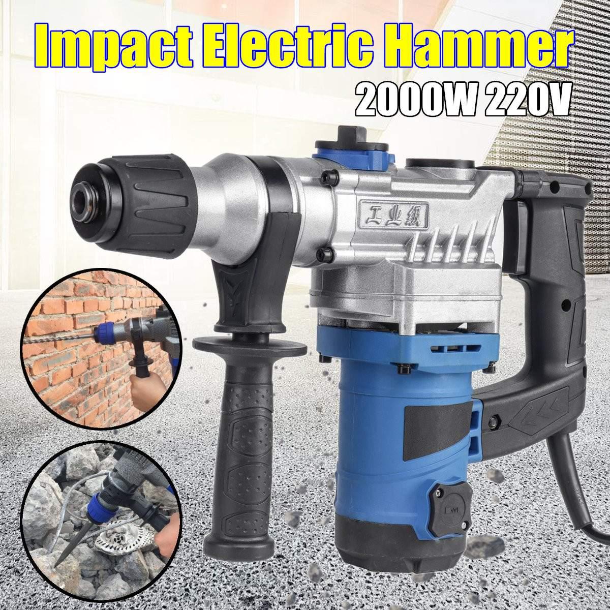 Wosai 20 V Elektrische Auswirkungen Bohrer Rotary Hammer Bürstenlosen Motor Cordless Hammer Bohrmaschine Elektrische Pick Für Schalter Frei Elektrohämmer Werkzeuge