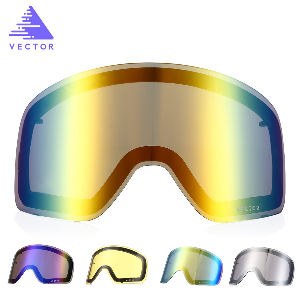 VECTOR Double-layer Anti-fog Ski Goggles Snow Glasses Interchangeable Men Women Snowboard Skate Skiing Sunglasses Outdoor Winter Противотуманная обработка