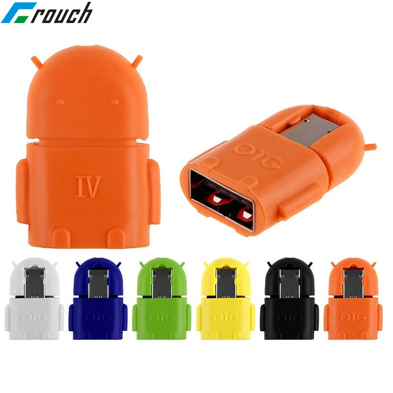 Crouch Mini Micro Usb Otg Cable To USB Converter OTG Adapter For Samsung Oppo Xiaomi Card Reader Otg Adapter For Huawei Android
