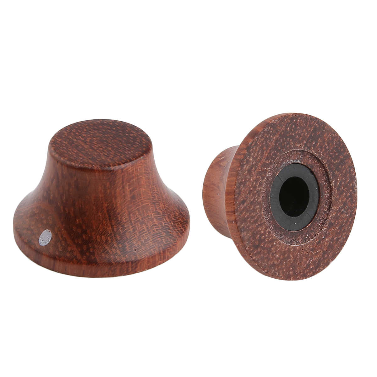 KAISH  Wood Knobs LP/Strat Style Bell Knobs Guitar Bass Top Hat Wood Knob with Indicator Dot 5 Different Wood