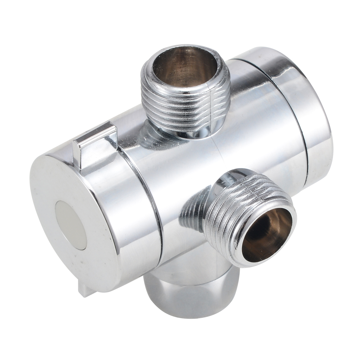 1/2 Inch Three Way T-adapter Diverter Valve Adjustable Shower Head Arm Mounted Diverter Valve For Bathroom Hardware Accessory