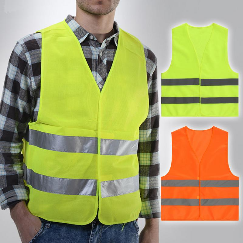 Reflective Vest Clothing With Gray Strips For Sanitation Construction Safety Hiking Riding And Running