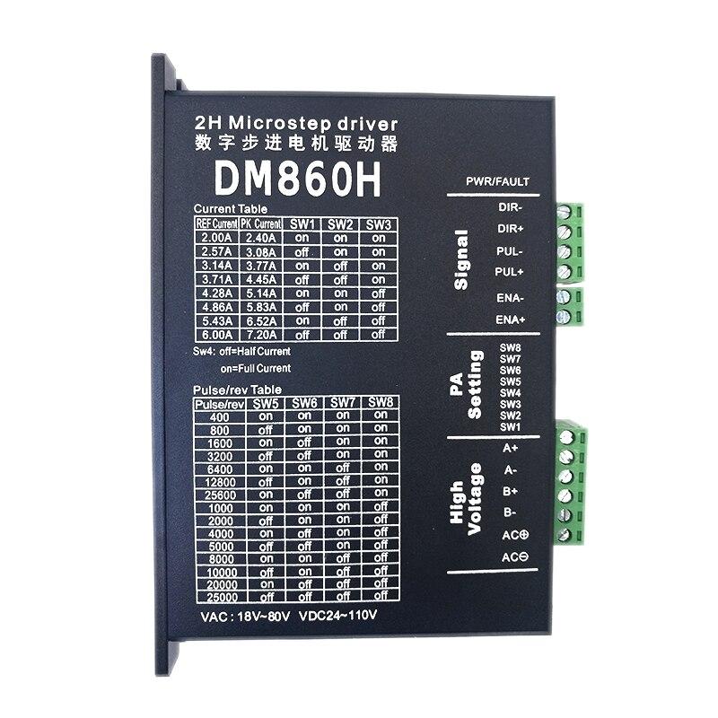 Stepper Motor Driver Dm860h Microstep Motor Brushless Dc Motor Shell For 57 86 Stepper Motor Nema 23 34