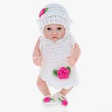 603cf299bca7d Silicone Reborn Bébé Poupée Fille Bébé jouets de bain corps entier Yeux  Ouvert Baby Doll avec des Vêtements 10 pouces 25 cm Réal.
