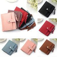 2019 New Brand Fashion 1PC Cute Wallet Women Coin Bag Leather Ladies Simple Bifold Small Handbag Purse