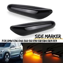 Лидер продаж 1 пара Хром светодиодный сбоку Габаритные фары Seiten мигалка Klarglas для BMW E36 E46 E60 E61 E90 E81 E84 E83 E53