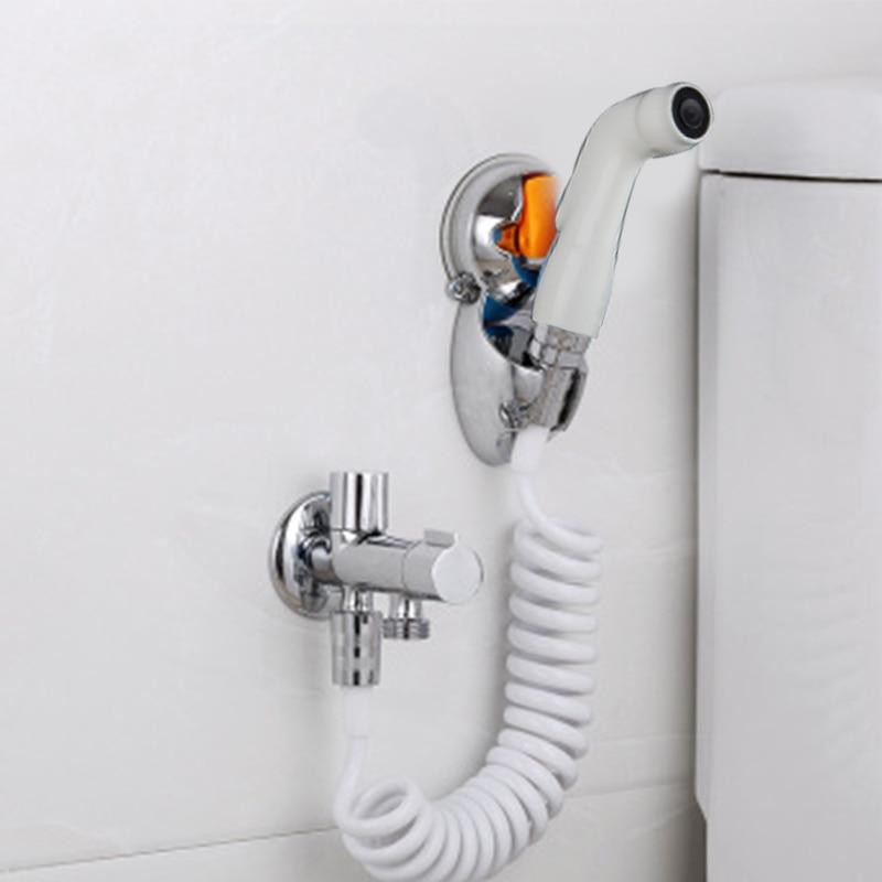 Handheld Toilet Bidet Sprayer Set Hand Bidet Faucet For Bathroom Wall Bracket Douche Hand Guns Shower Head Hygiene Cleaning