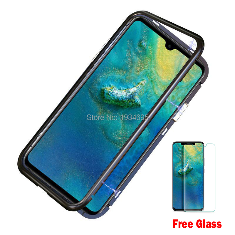 pretty nice 81520 fe1b5 US $4.74 5% OFF|HUAWEI Mate 20 Pro Magnetic Adsorption Case Ultra Phone  Case For Huawei Mate 20 X Mate 20 Pro Magnet Tempered Glass Case-in Fitted  ...