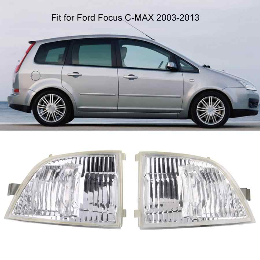 Cafoucs Car Rearview Mirror Turn Signal Light for Ford Focus C-MAX 2003 2004 2005 2006 2007 2008 2009 2010-2013 LED Strip Light