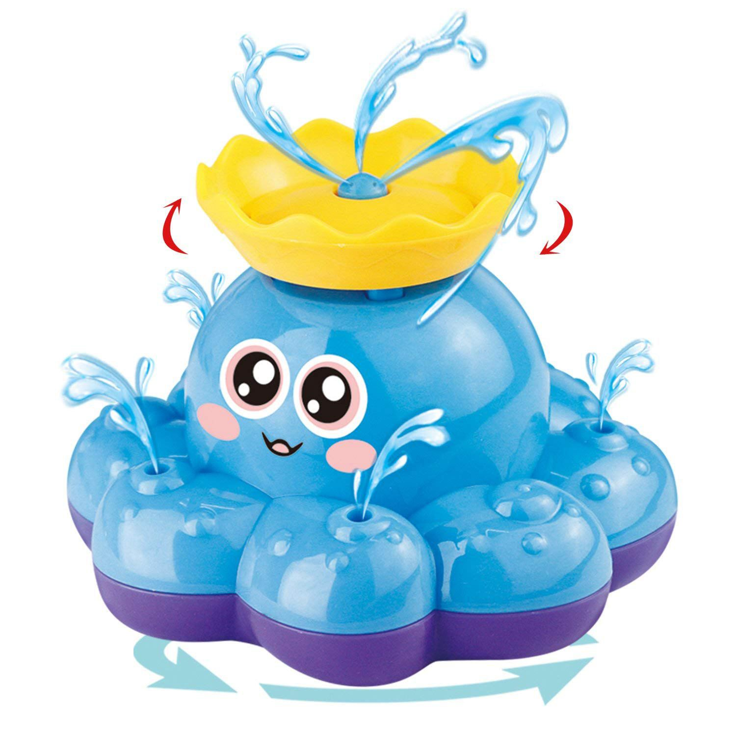 Senleer Bath Toys, Octopus Water Spray (random Color) Toy Function Floating Dirty Bathroom Shower Pool Prohibiting Baby Childr